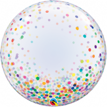 "Colourful Confetti Dots Bubble Balloon (24"") 1pc"